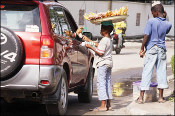 Street trading - a notorious form of child labour in the cities