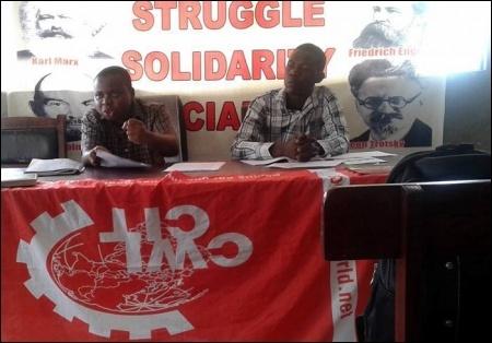 Kola Ibrahim speaking at the meeting - photo DSM