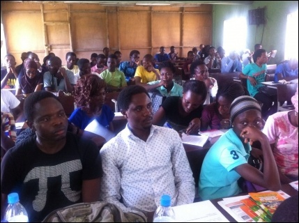Part of the audience at the LASU Castro meeting - photo DSM