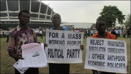 DSM comrades at the Lagos protest - photo DSM