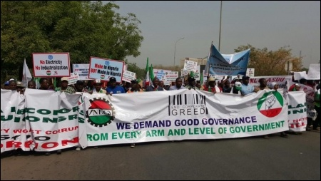 February 9 protesters in Abuja