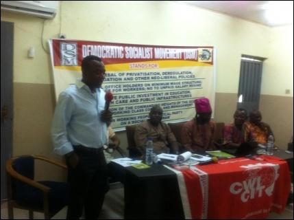 Omoyele Sowore, Publisher of Sahara Reporters, at the Symposium - photo DSM