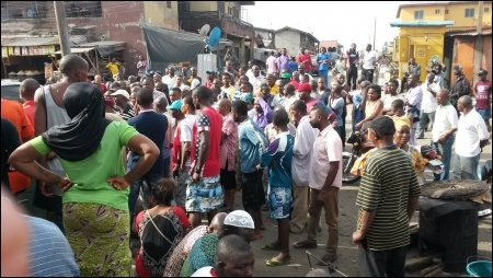 Electricity Struggle Mass Meeting in Ajegunle - photo DSM