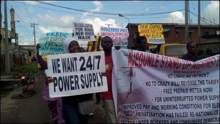 Protesting against crazy bills and poor power supply - photo DSM