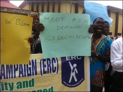 LASU ERC comrades supporting ASUU's strike - photo DSM