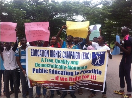 ERC on the march around the LASU campus - photo DSM